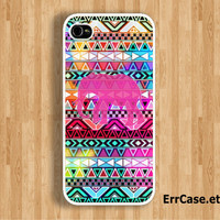 The Elephant on Colorful Bright Aztec Design Case : Iphone 4/4s case Iphone 5 case