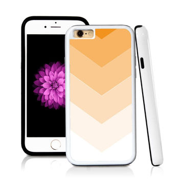 iPhone 6 case Ombre color white in Orange with hard plastic and rubber protective cover