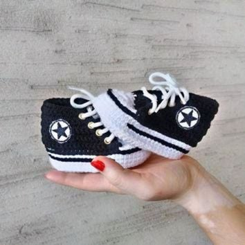 Shop Crochet Converse Baby Shoes On Wanelo