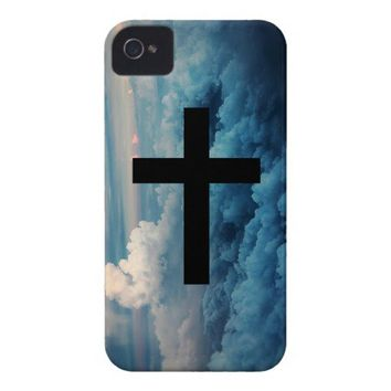 Cross in the Sky iPhone 4 Case-Mate Cases from Zazzle.com