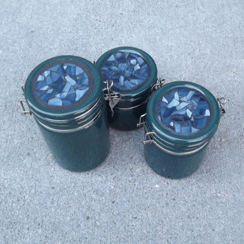 Mosaic Upscaled Canister Set of Three