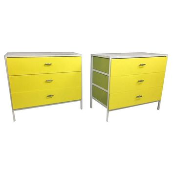 Pre-owned Herman Miller George Nelson Yellow Chests - A Pair