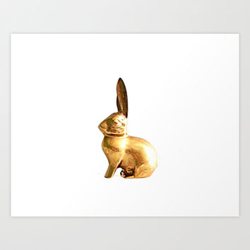 Brass Rabbit Art Print by thepropbroker