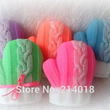 Christmas gloves 3D Soap mold mitten silicone  candle DIY handmade soap molds cakedecorating tools