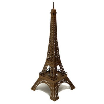 Eiffel Tower - architectural paper model building kit || 40 cm - 16 inches high || bronze color metallic paper