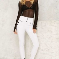 Nasty Gal Ifs Ands or Buttons Trousers - White