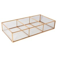 Threshold™ Glass and Metal 3 Compartment Vanity Tray