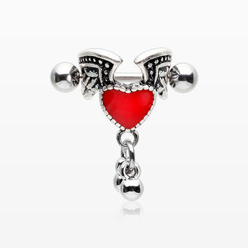 Vintage Angel Heart Cartilage Cuff Earring