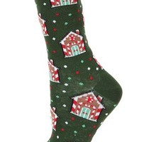Gingerbread House Ankle Socks