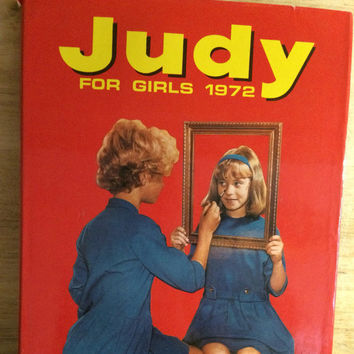 Judy - kitsch girl's annual - 1970s kitsch book - Bunty - Mandy - altered arts - kitsch crafts