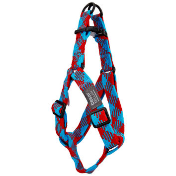 Cesar Millan Braided Brights Red & Blue Step-In Dog Harness