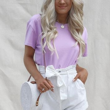 Gravity Lavender  Short Sleeve Crop T-Shirt