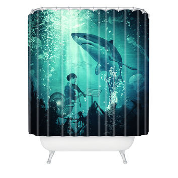 Belle13 Concert Under The Sea Shower Curtain