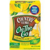 COUNTRYTIME ON THE GO LEMONADE MIX 6.7 OZ 10 PACK    PRICE: $4.50