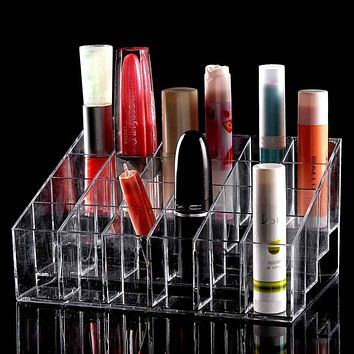 Makeup Organizer 24 Trapezoid Storage Lipstick Holder