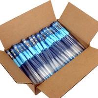 100 Blue Glitter Gel Pen Bulk Pack - 100 Units