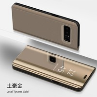 Smart Leather View Case For Samsung Galaxy Note 9 8 S9 S8 S7 Edge S6 edge Plus S6edge Mirror Flip Stand Cover Case S9+ S8+ Case