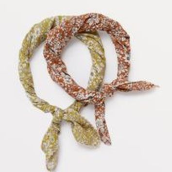 Flower Print Neckerchief by DO EVERYTHING IN LOVE