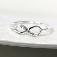 Dainty Infinity Ring 6 Size In Silv.. on Luulla