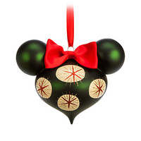 Minnie Mouse Holiday Bow Ornament