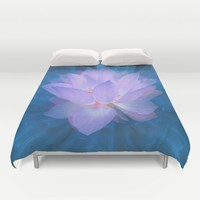 Galaxy Flower Duvet Cover by Lena Photo Art