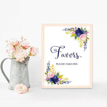 elegant wedding favors sign printable bridal shower favors sign