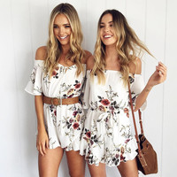 Summer Backless Romper [9629690893]