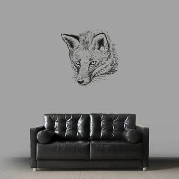 ik2945 Wall Decal Sticker animal fox living room bedroom