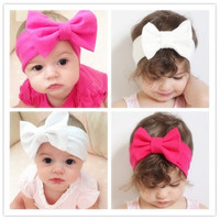 1 PCS Beautiful Lovely Baby Kids Newborn Girls Bow Flower Headband Hairband Accessories