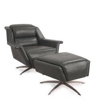 Kaato Full top grain Contemporary leather swivel chair