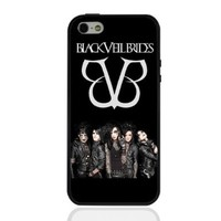 Hard Iphone 5c Case Phone Cover with Black Borders Black Veil Brides