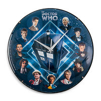 Doctor Who Glass Clock