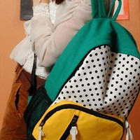 Cute Leisure Mixing Color Dot Print Backpack