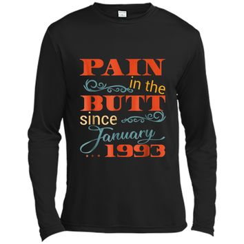 26th Bday Party  January 1993 26th Birthday Gag Gift Long Sleeve Moisture Absorbing Shirt