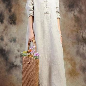 Home Symbol Of The Brand Women Summer 2019 Celmia Vintage 3/4 Sleeve Lace Up Dress Solid Pleated Casual Baggy Long Maxi Vestidos Kaftan Plus Size 4xl