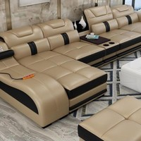 Real  Leather Sectional Sofas Minimalist