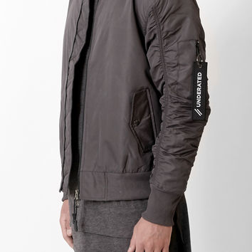 B07 Stealth Strapped Bomber Jacket - Charcoal