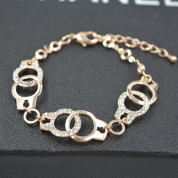 Gift New Arrival Awesome Shiny Hot Sale Great Deal Korean Stylish Ring Hollow Out Chain Luxury Bracelet [10417741140]