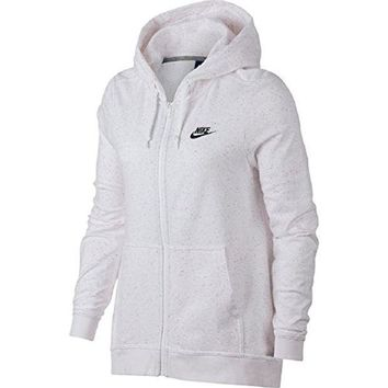 CREY3DS NIKE Women's Full Zip Sportswear Hooded Sweatshirt Speckle Confetti 914402 100