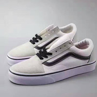 """VANS"" Fashion Women/man Running Sport Casual Shoes Sneakers white"