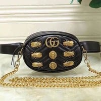''GUCCI'' Women Shopping Metal Crossbody Satchel Shoulder Bag