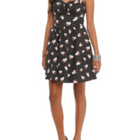 Rose Skull Polka Dot Dress