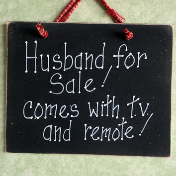 Wood sign for men, Husband for sale, humor