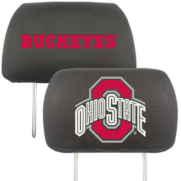 Ohio State Buckeyes NCAA Polyester Head Rest Cover (2 Pack)