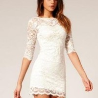 SEXY 2PIECE ALL LACE MINI DRESS