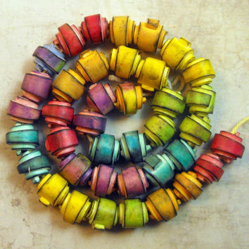 13 Artisan  Beads - Rolled Beads Polymer Clay
