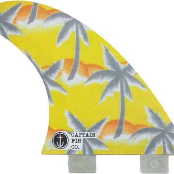CAPTAIN FIN TEAM PALM TREES FIN SET