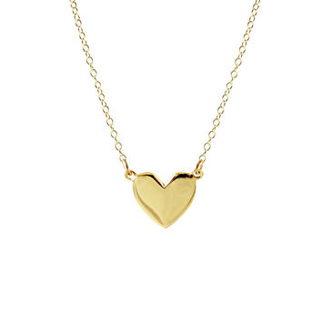 Kris Nations Necklace - Gold Heart