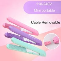 110-240V Portable Mini Curls Hair Straightener Ceramic Corrugate Curling Iron Styling Tools Cable Removable Hair Curler