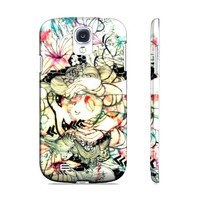Pink phone case -  Floral phone case - Floral art - Samsung Galaxy s4 -Case for s4 - Samsung case - Cell Phone case - Galaxy phone